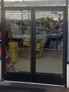 Ada compliant commercial aluminum storefront doors with for Commercial aluminum storefront door