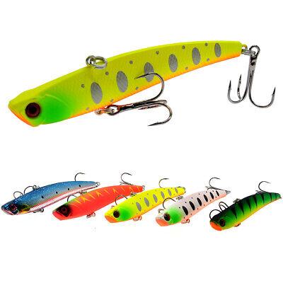 5PCS fishing hook lure baits Minnow Crankbaits VIB  6.5cm//14g