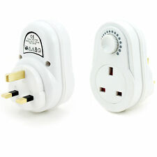 Mains Dimmer Switch -UK Plug Socket- Light/Lamp Dimmable Bulb Brightness Control