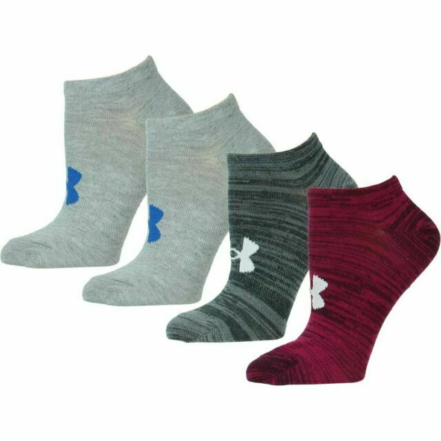 0017e7460 Under Armour 4 Pair Space Dye No Show Socks Womens Shoe Size 6-9 for sale  online | eBay
