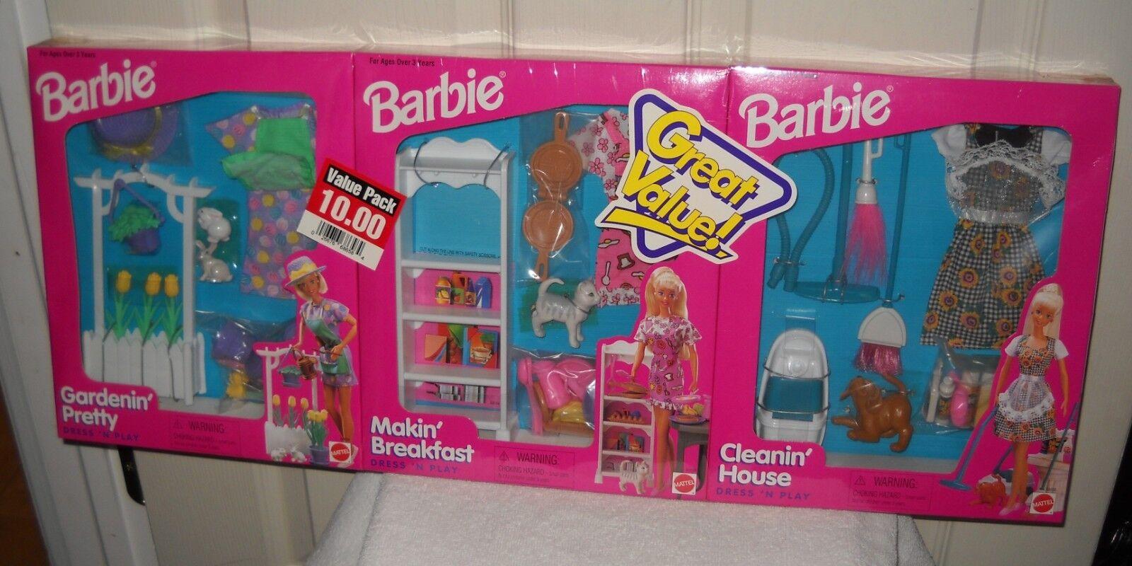Paquete de valor de destino de Mattel Vestido Barbie Conjuntos De Ropa Y Accesorios Para N Play