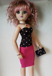 CISSY-DOLL-CLOTHES-6pc-Top-Skirt-Beaded-Purse-amp-Jewelry-HM-Fashion-NO-DOLL-d4e