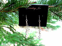 Eisenberg Ice Crystal Snowflake Fishhook Dropped Pierced Earrings