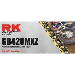RK Racing Chain GB428MXZ-118 Gold 118-Links Heavy Duty Chain with Connecting Link