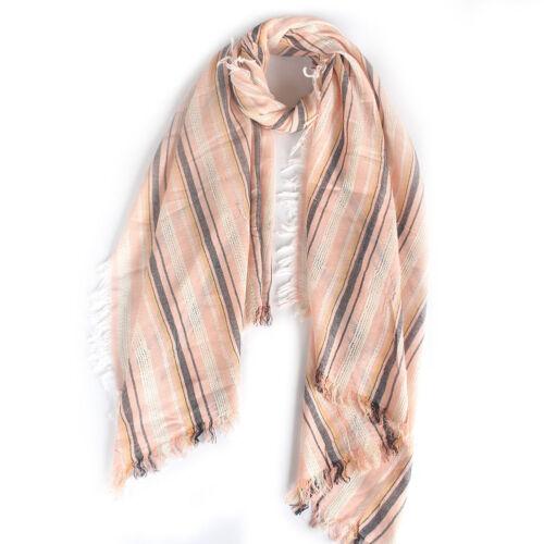 Women Winter Shimmer Linen Long Square Tassel Infinity Queen Scarf Wrap Shawl
