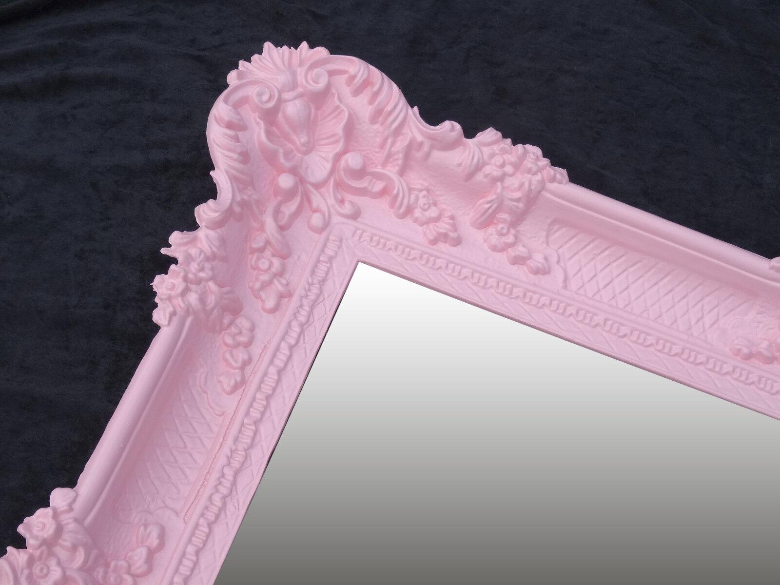 Xxl baroque déco Miroir Mural 96x57 antique rococo déco baroque princesse miroir violet 442ee4
