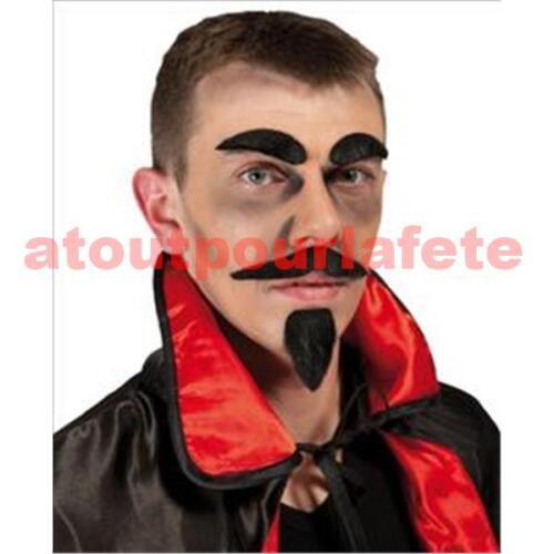 Fausse Moustache Postiche pour deguisement au choix:Mario,Mexicain,Dupont,Etc...