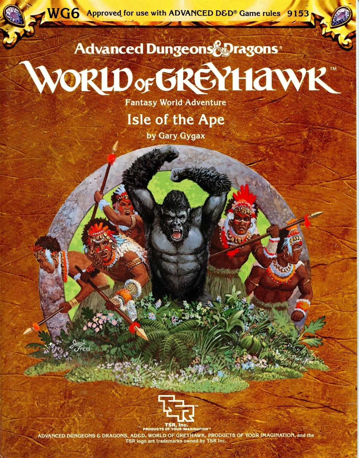 ISLE OF THE APE WG6 NM  DUNGEONS & DRAGONS TSR 9153 AD&D