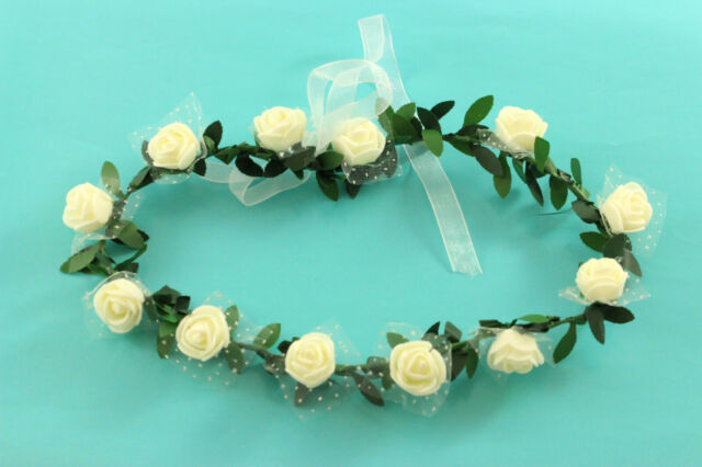 Baby Stirnband Rose Bogen Spitze Haarband Blumen Kopfschmuck MA rosa