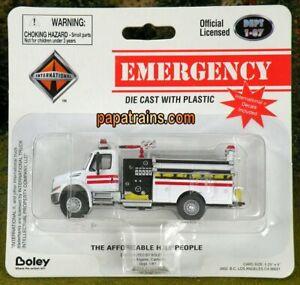 Die-Cast-International-White-Fire-Truck-HO-Scale-1-87-by-Boley
