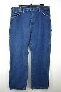 Dickies Mens Blue Straight Leg Comfort Fit 5-Pocket Cotton Denim Jeans 36 X 30
