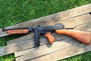 Details about M1928A1 1928 Thompson SMG Submachine Gun - U S  Military  Version - Denix Replica