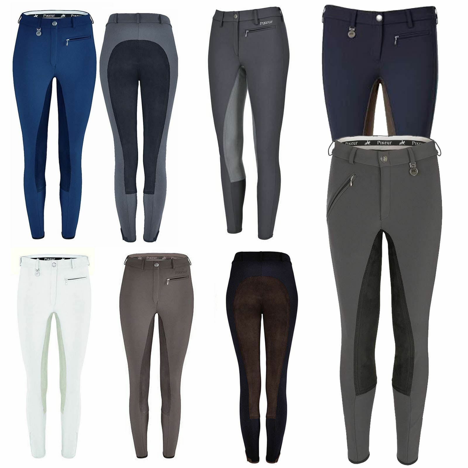 Pikeur Lugana Breeches - Contrast Comfortable Equestrian Riding  Full Seat Ladies  your satisfaction is our target