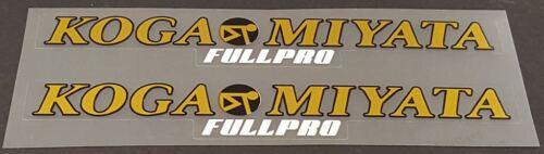 Koga-Miyata FullPro Top Tube Decals 1 Pair sku Miya233 Metallic Gold