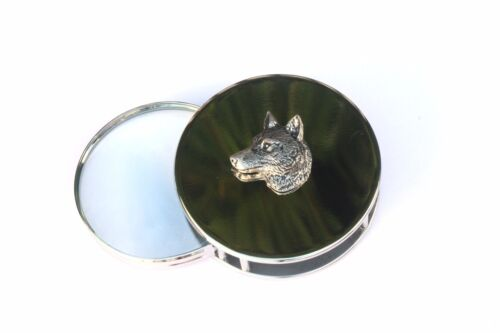 Wolf Head Design Magnifying Reading Glass Desktop Office Hunting Gift