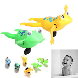 Bathroom-Tub-Bathing-Toy-Clockwork-Wind-UP-Plastic-Bath-Animal-Pool-For-Baby-Pip