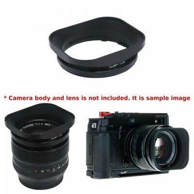 18mm F2 R Haoge LH-X53 Square Metal Lens Hood for Fujifilm Fuji XF 35mm F1.4 R