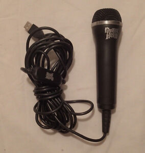 guitar hero usb wired microphone mic xbox 360 pc playstaion 3 ps3 wii ebay. Black Bedroom Furniture Sets. Home Design Ideas