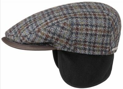 STETSON EUROPE 8//4 VIRGIN WOOL M 57cm 7 1//8 BLUE NEWSBOY PAPERBOY CABBY CAP