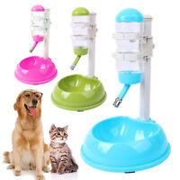 Automatic Cat Feeder Plastic Dog Bowls Bottle Drink Dishes for Dogs Blue Green