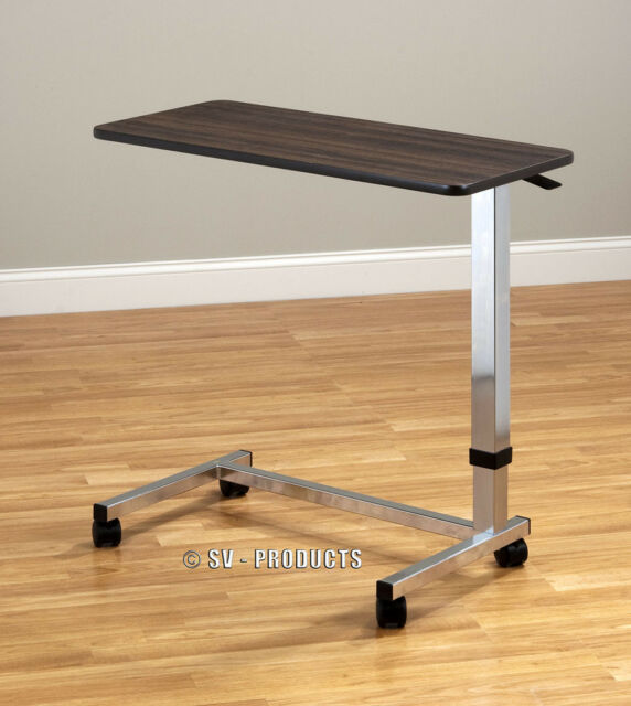Hospital Over Bed Table Food Tv Trays W Wheels 216