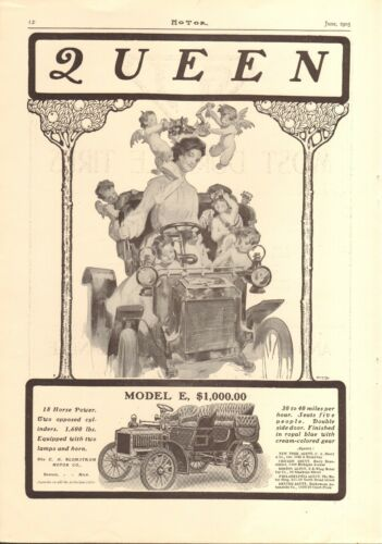 1905 QUEEN MODEL 3 CAR AD
