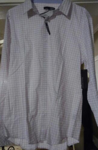 Long Sleeve Dress Shirt Light Pink /& White Womens Plaid NWT $75 Button Down L