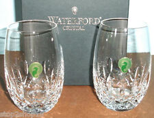 Waterford Lismore Nouveau Stemless White Wine 2 Glasses 8 oz. #136877 New