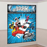 Power Rangers Ninja Steel Wall Poster Decorating Kit Birthday Party Supplies