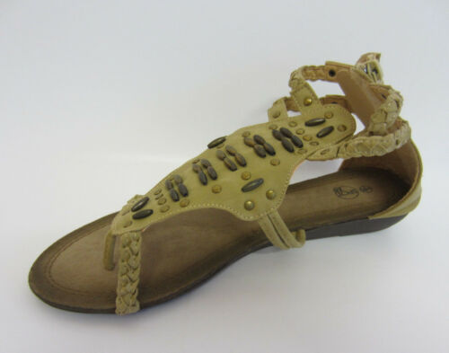 R9A Spot On F0431 Ladies Blue Or Camel Gladiator Sandals