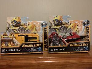 "Transformers Energon Igniters 5"" Set Of Bumblebee & Shatter E0759 / E0757 Hasbro"