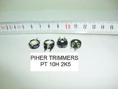 15mm. diametro.Lineal PIHER PCB PT15V 500 Ohm 2 x POTENCIOMETROS TRIMMERS