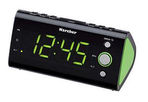 Karcher-UR-1040-G-Uhrenradio-Wecker-Radio-Raumtemperaturanzeige-Radiowecker