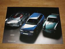Audi Porsche Rs2 Poster Turbo Sectional Drawing Original Vintage New Estate