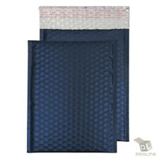 1 200 2 85x12 Matte Metallic Royal Blue Color Poly Bubble Padded Mailers