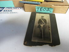 [TB02] vintage photo black officer with sword may be from black lodge