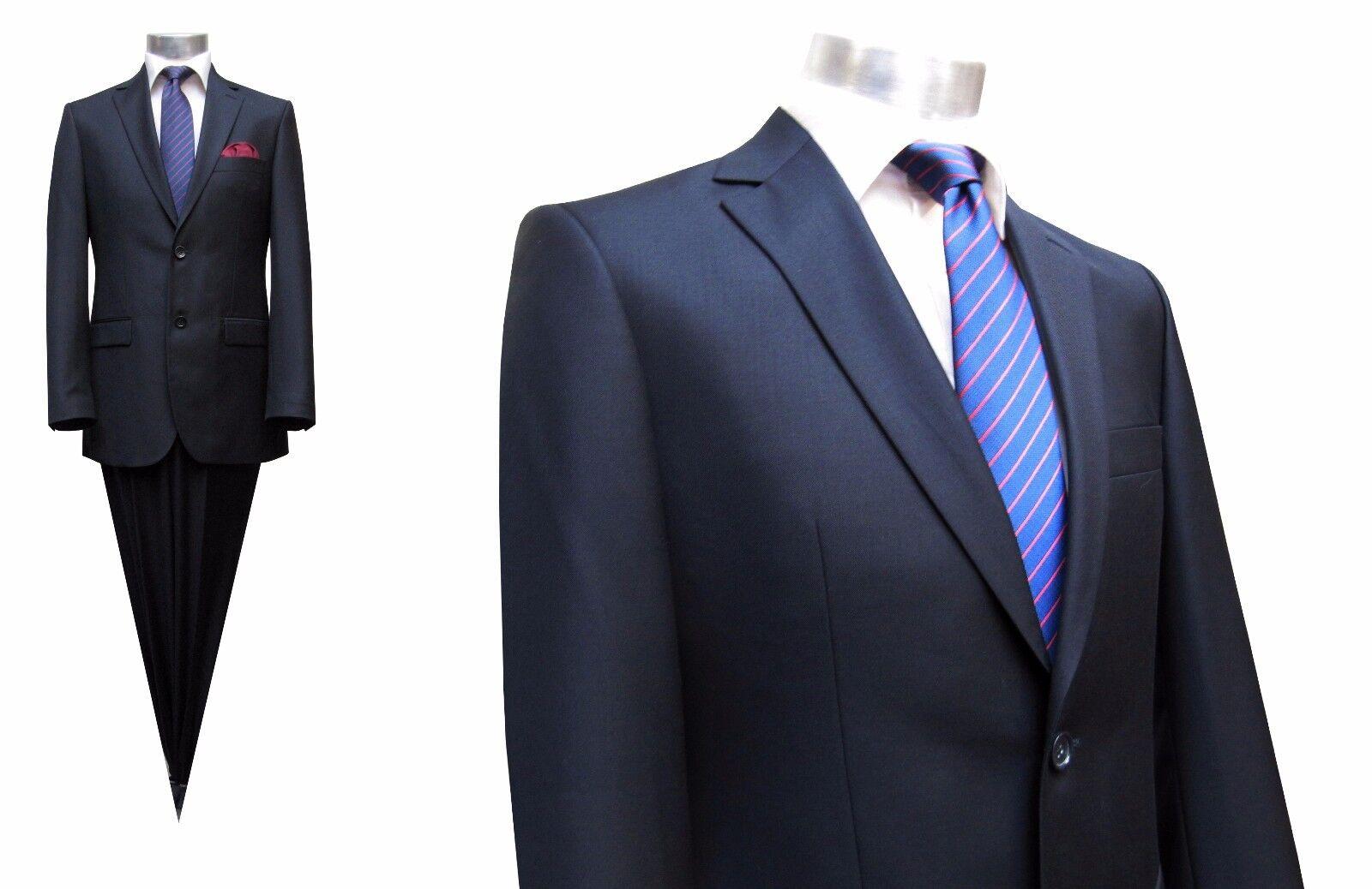 Slim-fit Herren Anzug 2 teilig Gr.90 Blau
