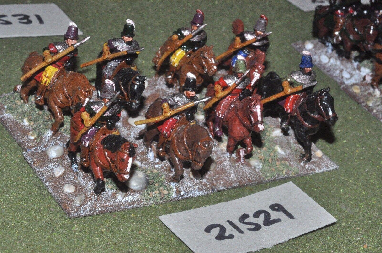 25mm renaissance   imperialist - 8 light cavalry - cav (21529)