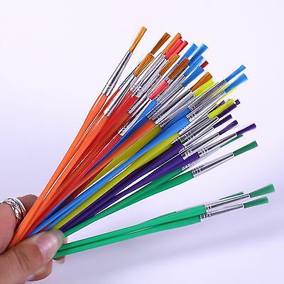 Synthetic Coloured Paint Brush for Kids Art & Painting Pack of 144 Thin Brushes