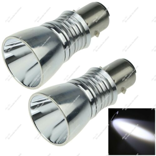 2X BA20D H6 1 CREE LED Motor Bike//Moped//ATV Headlight Bulb Fog Light Auto ZE302
