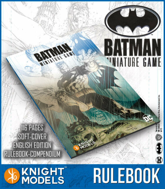NIGHT MODELS RULEBOOK BATMAN MINIATURE GAME ENGLISH NEW