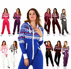 New Womens AZTEC PRINT Hooded Zip Up Onesie Jumpsuit Plus size S-XXXXL size 8-22