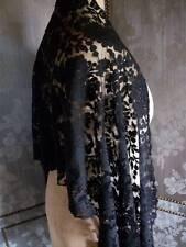 Elegant French Antique Lace Mantilla c1900