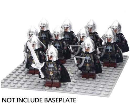 El Señor de los Anillos Set 11 mini figuras custom Lego Arqueros de Gondor
