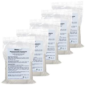 5x 1 Kg Rekosan Magnesiumsulfat Bittersalz Epsom Salz Mgso4
