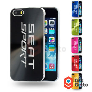 Details about Seat Sport Ibeza Car Logo Engraved Personalized Metal Cover Case - iphone 5/5s