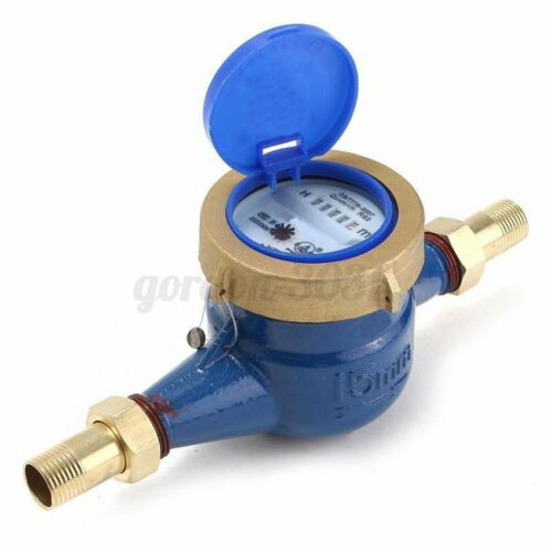 1//2/'/'15mm Copper Cold Dry Counter Brass Water Flow Measure Tool Tape Meter Home