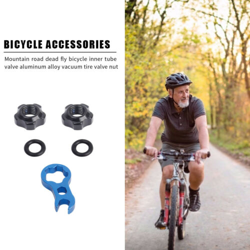 2pcs Bicycle Presta Valve Nuts with Wrench Washer MTB Bike Repair Accessories