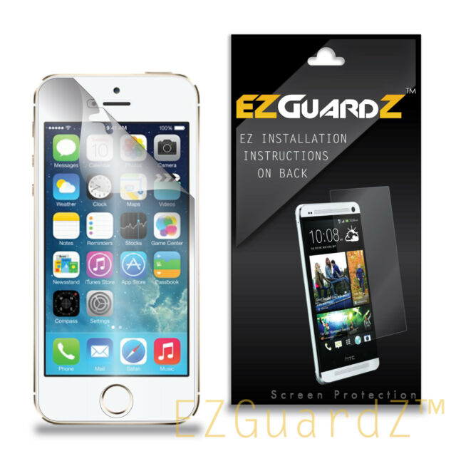 5x Ezguardz Clear Screen Protector Shield Skin 5x For Apple Iphone