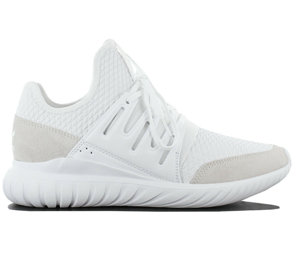 Adidas Originals Tubular Homme Radial Baskets / Chaussures Homme Tubular Blanc Textile Cuir 6bdc3b